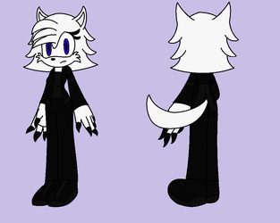 Nightmare the Airtic Wolf new ref by BluethornWolf