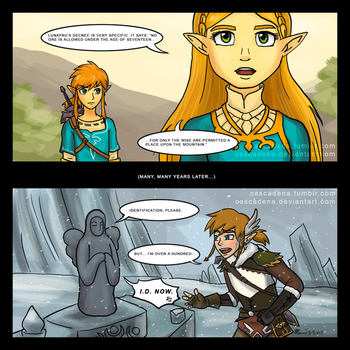 Comic: Hylia the Bouncer by Cascadena
