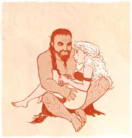 aSoIaF Khal and Khaleesi by jubah