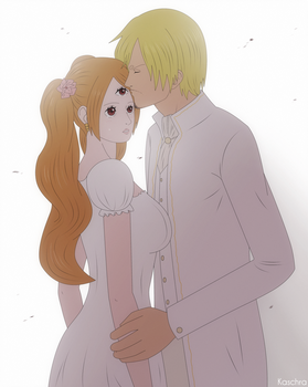 Pairing #8 - Sanji/Pudding [One Piece] by Kaschra