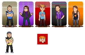 Caddicarus and Friends Spriteset by CaptainQuestion