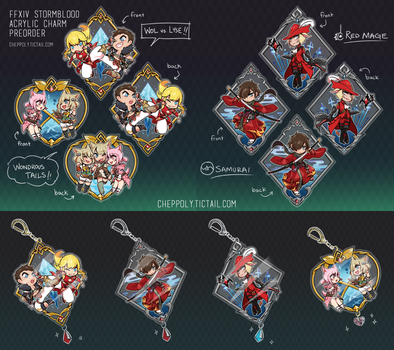 FFXIV Stormblood Charm Preorder [+ GIVEAWAY!] by Cheppoly