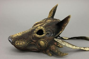 Black wolf mask by hontor