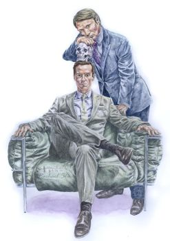 Presenting: Hannibal Lecter and Jim Moriarty by ThePotatoStabber