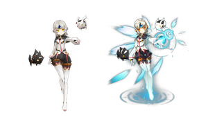(MMD ELSWORD) EVE COMPARISON by Cresitonia