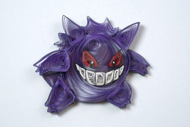 Pokemon Paper Quilling Art 094 - Gengar by wholedwarf
