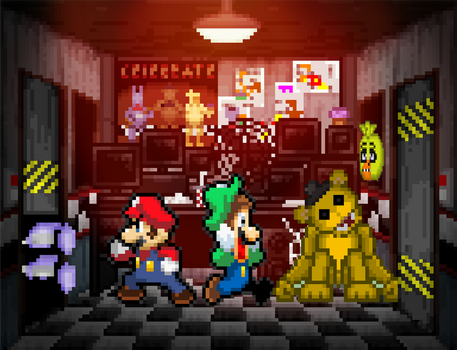 Five Night at Freddy's:Super Mario Bros.Edition by StupidKirbyFan