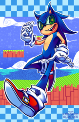 Sonic Print by Krooked-Glasses
