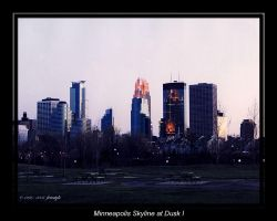 Minneapolis Skyline at Dusk 1 by Freestyle35mm