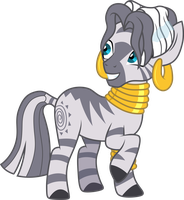 Wet mane Zecora by CloudyGlow