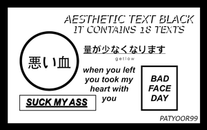 +Aesthetic Text Black by PatyOOR99