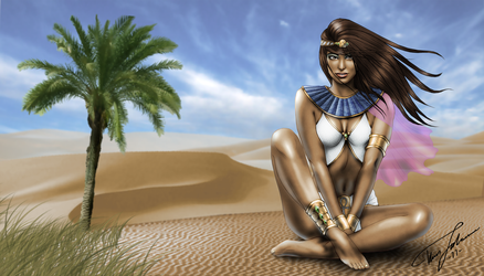 Amunet in the Desert by Hyde209