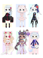 collab adoptable batch (1/6 OPEN) by lobsterberry