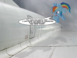 Rainbow Dash isn't impressed with the Concorde. by AdrianImpalaMata