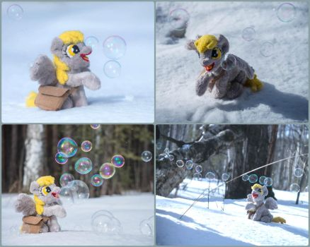 Derp, snow and bubbles by Valmiiki