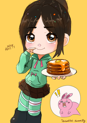 (complete!) Vanellope more pancake! by summilly