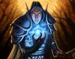 WoW card game sample by rainerpetterart
