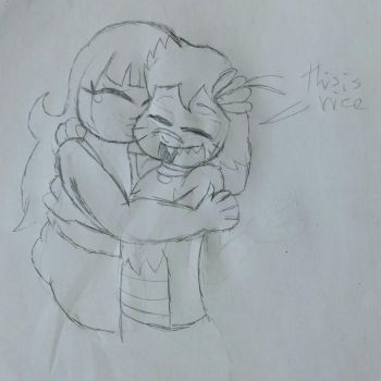 Kitty Cuddles (Quick Sketch) by RacketFewl