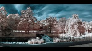 Blue skies in Sunderland - IR - Pano by Wayman