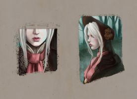 Plain doll simple portraits by Wingless-sselgniW