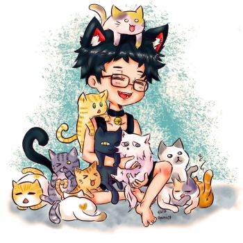 Nero with 11 lovely neko by jaimie07