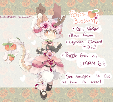 :Rosales: Peach Blossoms Raffle {CLOSED} by SweepAdopts