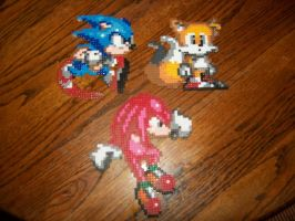Sonic, Tails and Knuckles by EternalBarrel