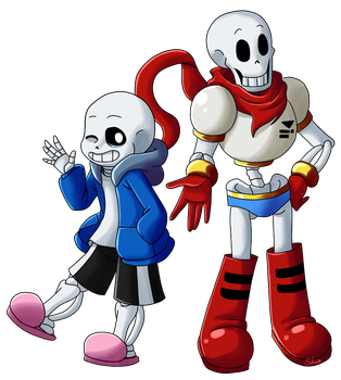 :fanart: skelebros by Sofua