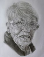 Portrait of Grandmother by eddiebacon