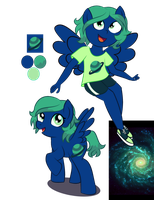 Galaxy Beam :Ponysona: by BerryPunchrules