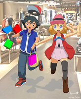 Amourshipping Ash X Serena: Another day with you by mglm12