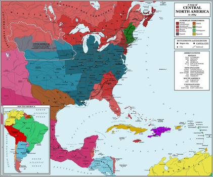 North America, 1884 by rubberduck3y6