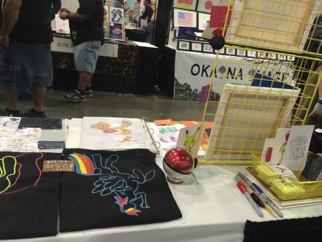 Behind the artist alley table by Jacks-sis13