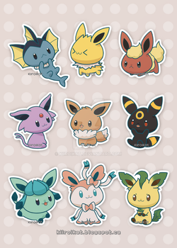 Eeveelutions by KiiroiKat