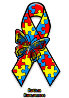 Autism Awareness Ribbon by AdaleighFaith