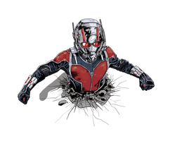 Ant-Man Colours by giantboydetective
