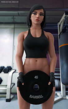 At the gym by pharah-best-girl