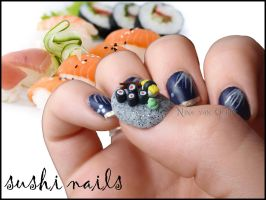 Sushi Nails by Ninails