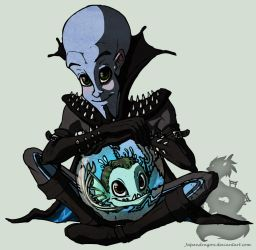 Megamind and Nounou by Japandragon