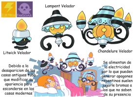 Pokemon Variante-(032) Litwick-Lampent-Chandelure