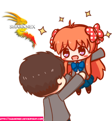 Request nozaki x sakura chibis render by sharknex