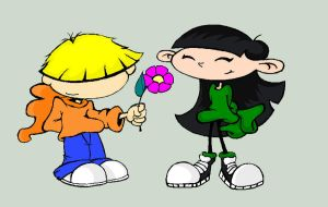 Wally and Kuki on MS paint by AbbyGaby005