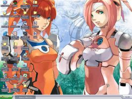 Phantasy Star desktop by KriegsaffeNo9