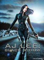 WWE AJ Lee Black Widow Poster by Timetravel6000v2