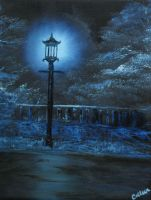 Blue Lamppost by crazycolleeny