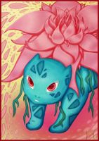 Ivysaur used petal dance - Pokemon by AuraGoddess