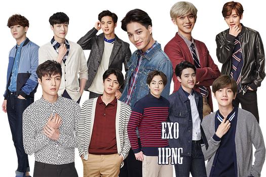 EXO PNG Pack {Lotte Duty Free 4} by kamjong-kai