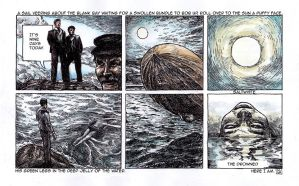 Ulysses Pages - No 11. Drowned man by besnglist