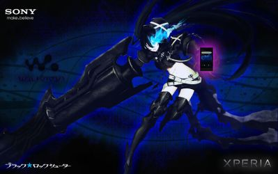 Black Rock Shooter Featuring Sony Xperia. by venti-bucks