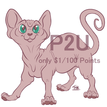 Cutesy Sphynx Base- P2U by TaksArt